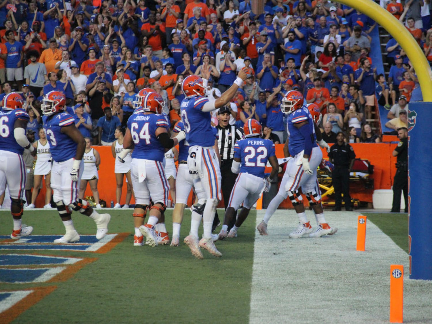 """Quarterback Feleipe Franks said the Gators' win over Charleston Southern was one of the more fun games he has been a part of.""""Guys are getting excited when we score,"""" he said."""