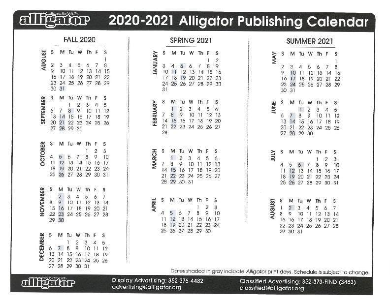Publication Calendar