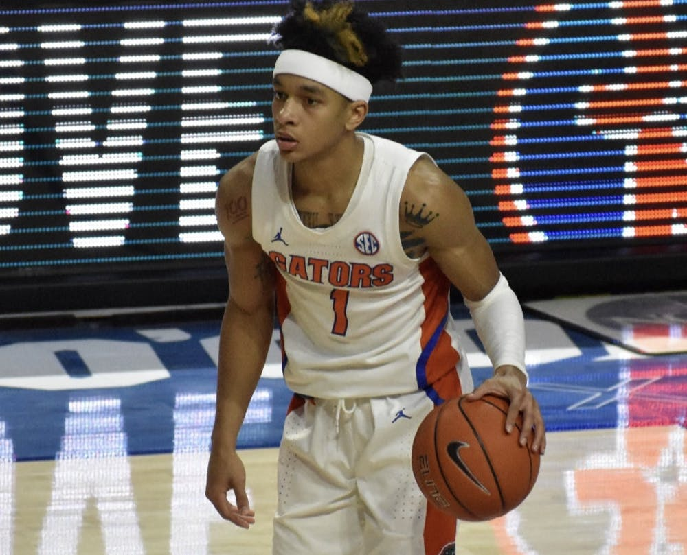 Florida's Tre Mann, who led the Gators with 16.0 points per game in 2020-21, was drafted by the Oklahoma City Thunder 18th overall in Thursday's NBA Draft.