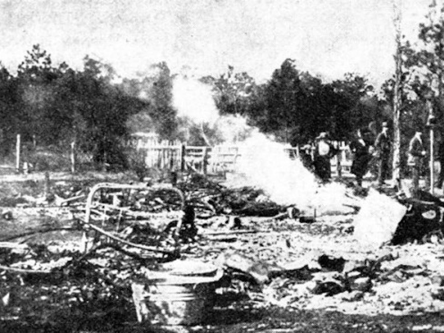 The ruins of a home destroyed during the Rosewood attack, avenging the alleged murder of Fannie Taylor.