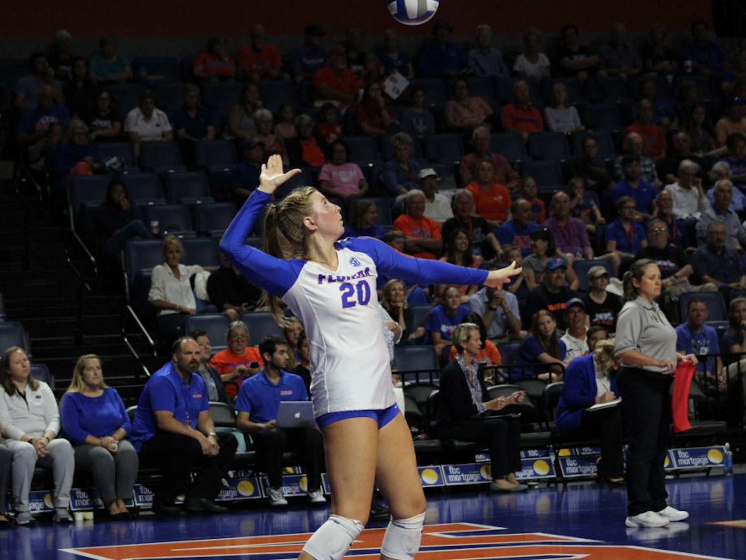 Freshman Thayer Hall ended the win over Georgia with 11 kills and hit a shade under .180 for the match.