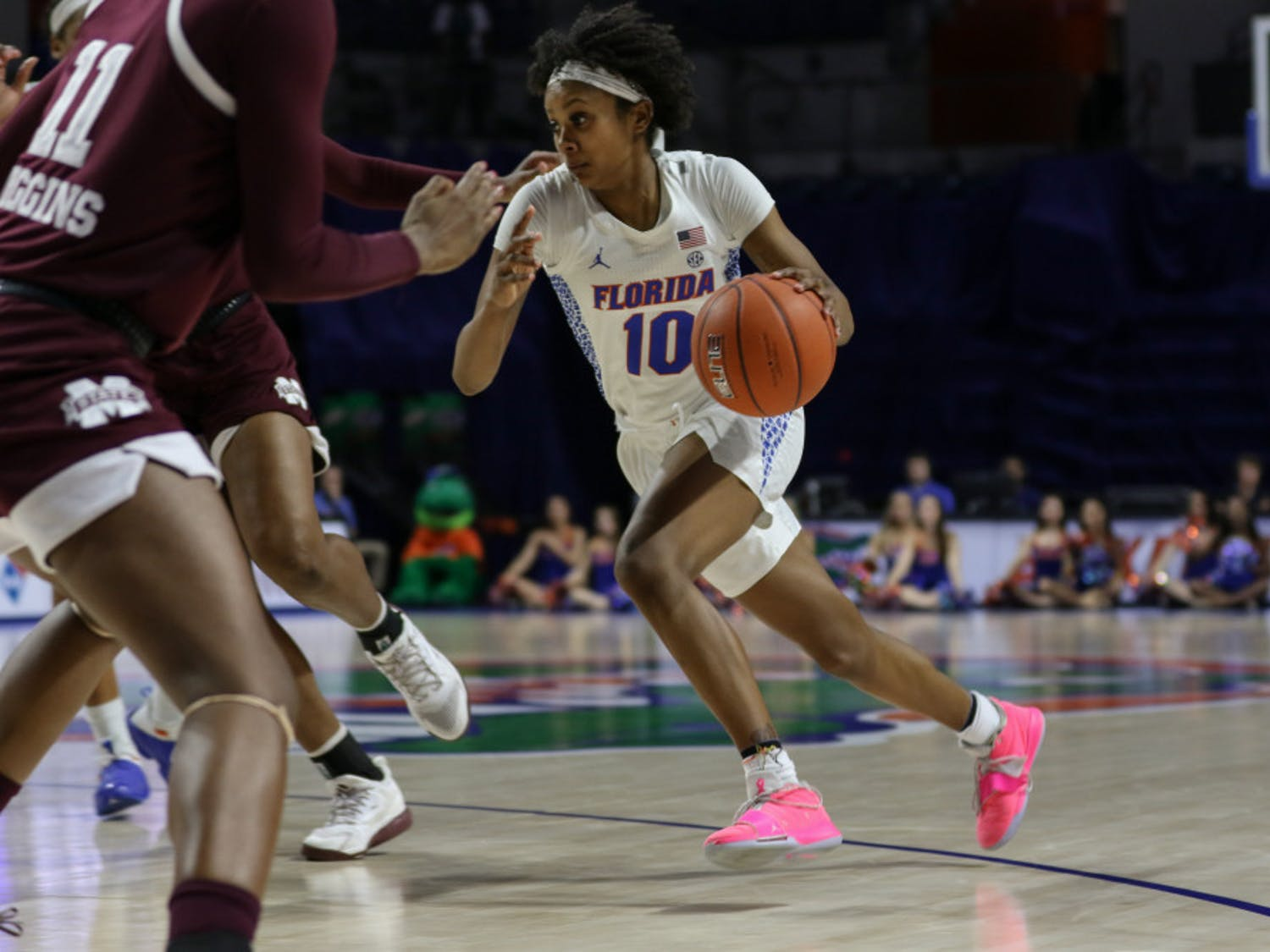 Guard Danielle Rainey paced the Gators offensively against the Wildcats. She had 20 points on 7-of-10 shooting in the Gators' 62-51 loss at Rupp Arena.