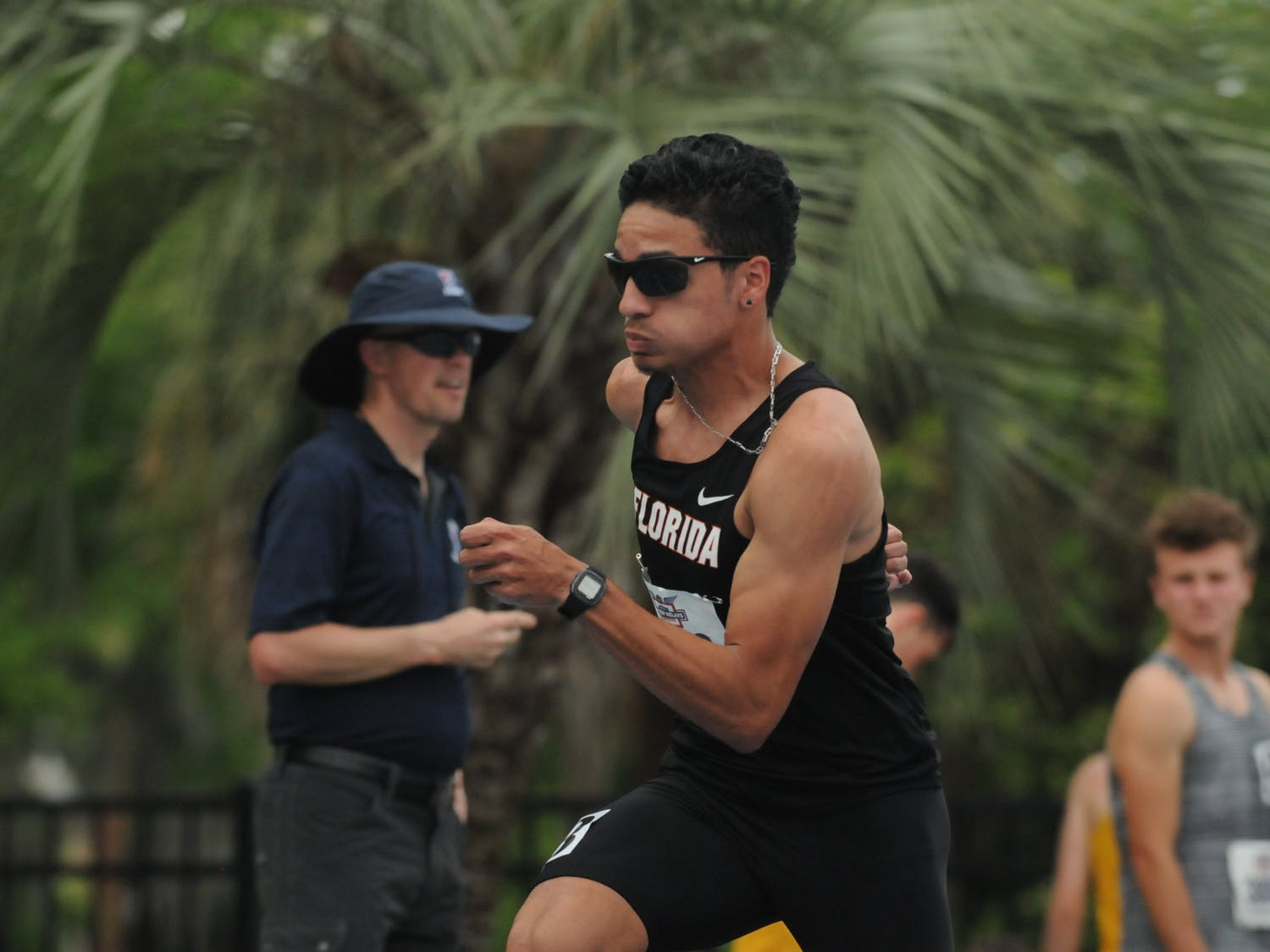 Junior mid-distance runner Andres Arroyo competes in the 800 meters during the Florida Relays on April 1, 2016, at Percy Beard Track.
