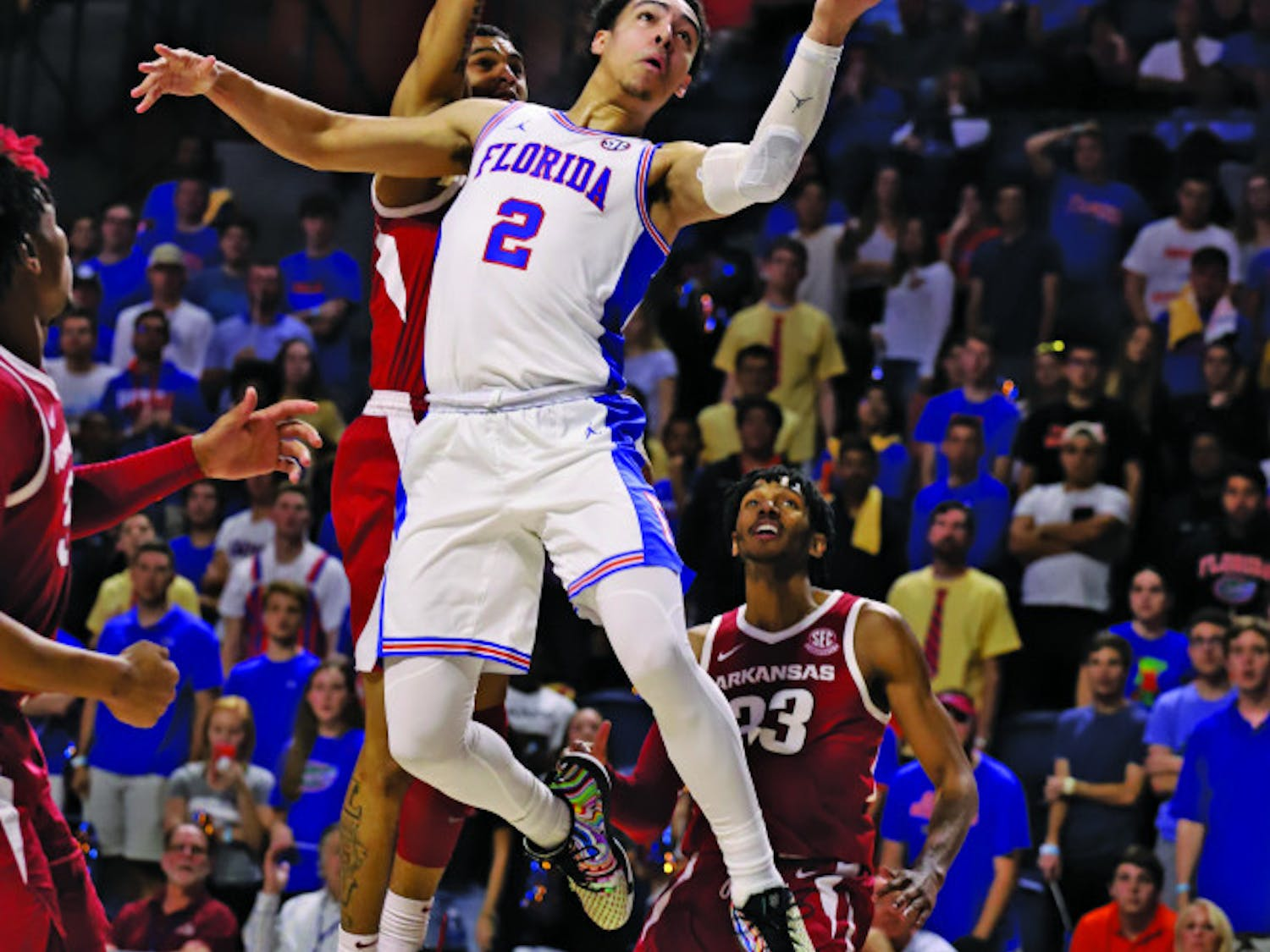 Guard Andrew Nembhard is UF's third-leading scorer and leads the team in assists.