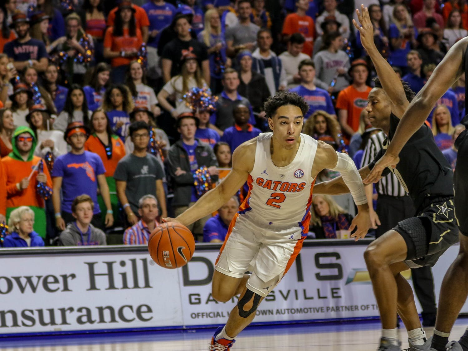 Point guard Andrew Nembhard has missed time with tendinitis, according to coach Mike White.