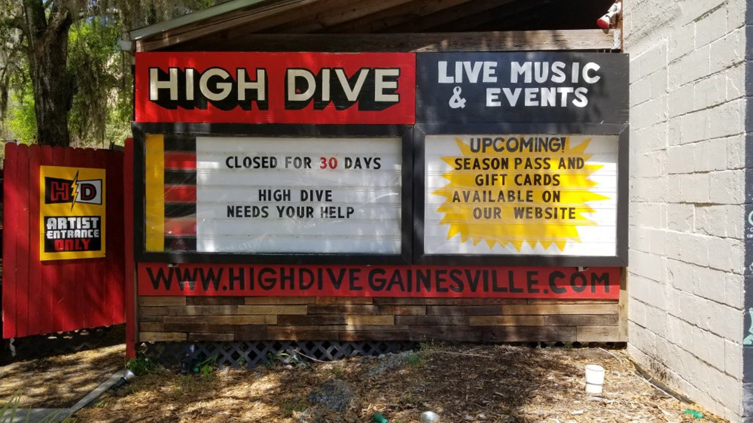 High Dive has launched a GoFundMe page and a Summer 2020 season pass starting at $59 in an effort to offset the strain placed on the venue by the COVID-19 pandemic.