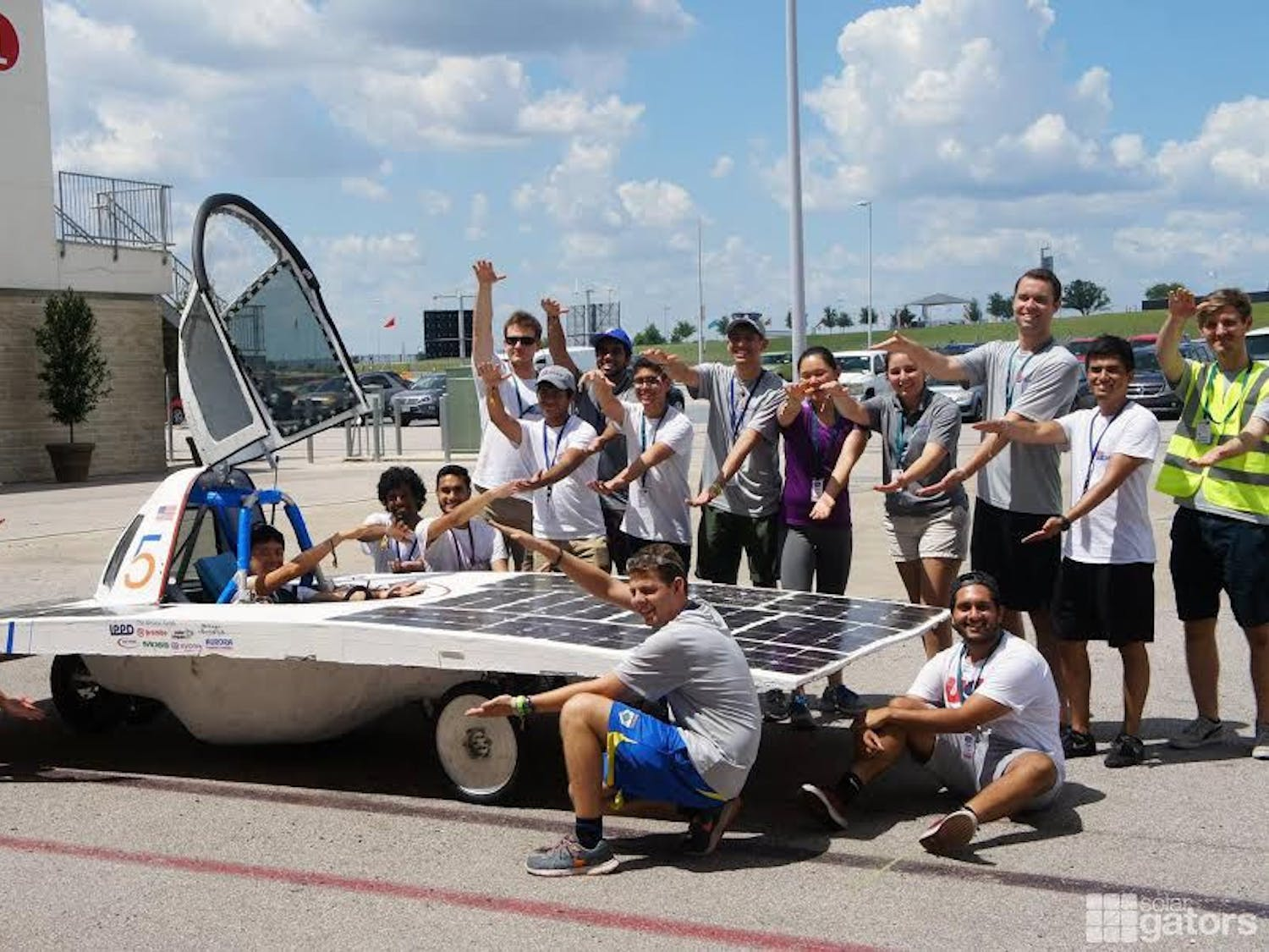 The Solar Gators' car got onto the competition track just three minutes before the cutoff for the final race. Solar Gators president Ananda Sundararaman said when they were able to scale the first hill on the track, all the universities that helped the team burst into cheers.