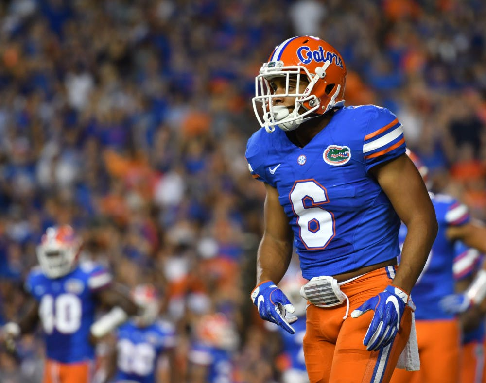 <p>Quincy Wilson prepares for a play during Florida's 32-0 win over North Texas on Sept. 17, 2016, at Ben Hill Griffin Stadium.</p>