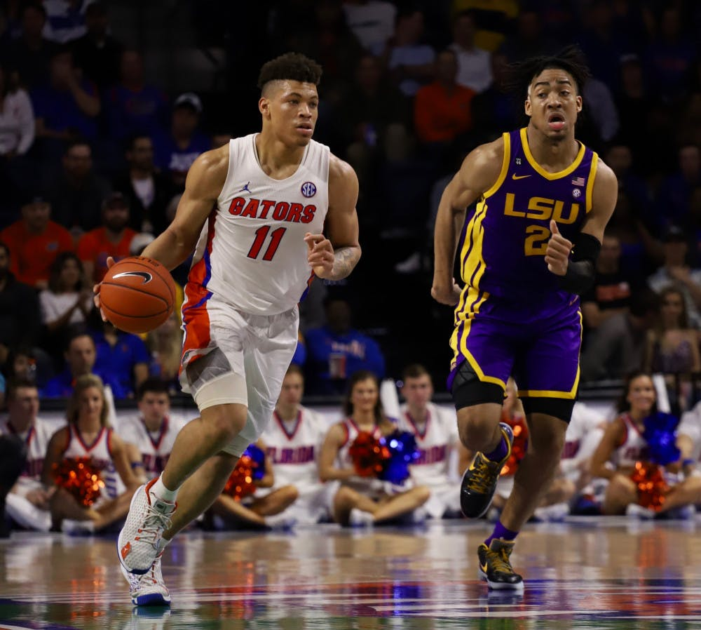 <p>The SEC released its men's basketball conference schedule Friday. The Gators will play LSU at home and away in the 2020-21 season.</p>