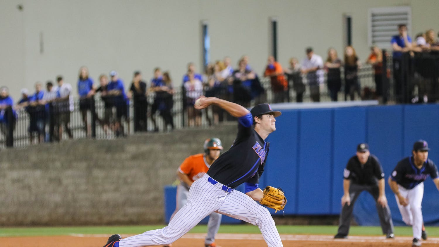 Junior Tommy Mace allowed just one run and three hits through five innings of work, striking out eight.