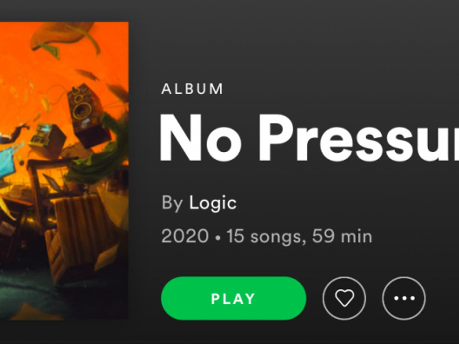 "Logic's album ""No Pressure"" was released July 24."