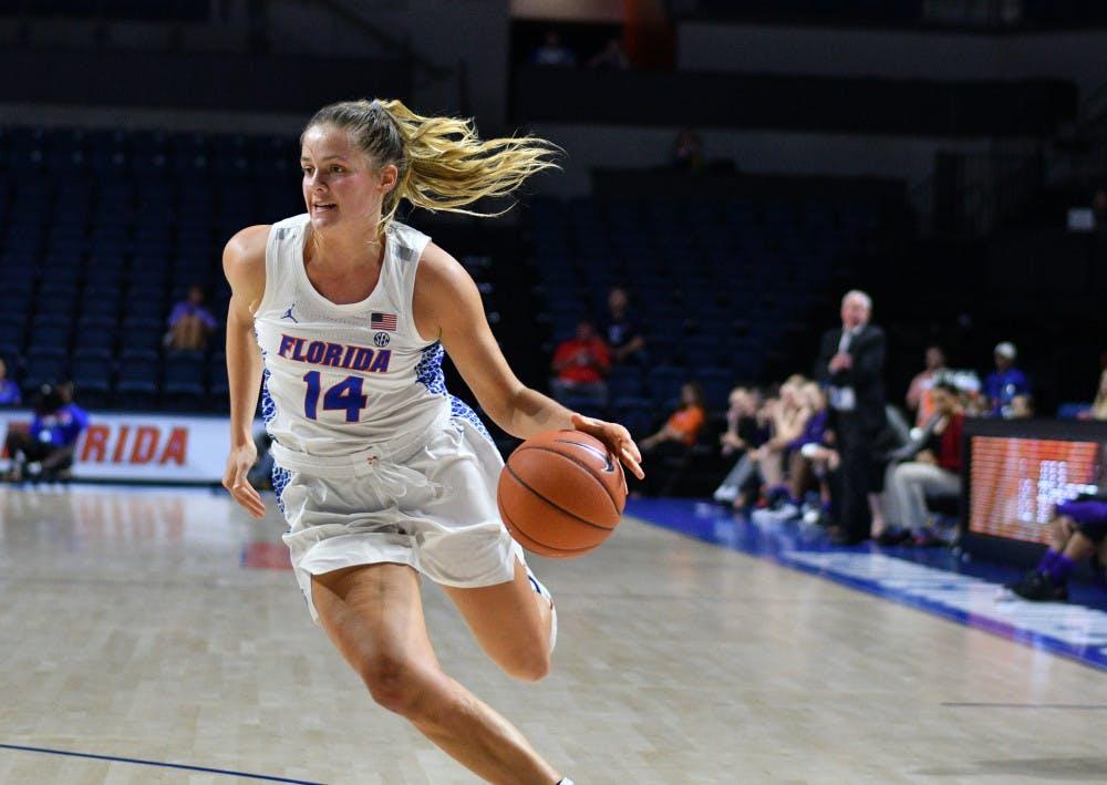 "<p>UF guard Kristina Moore suffered a broken arm on Jan. 27 in the Gators' <span id=""docs-internal-guid-f0f498df-7fff-e813-2948-5650cbfac9cd""><span>women's basketball game against Arkansas.</span></span></p>"