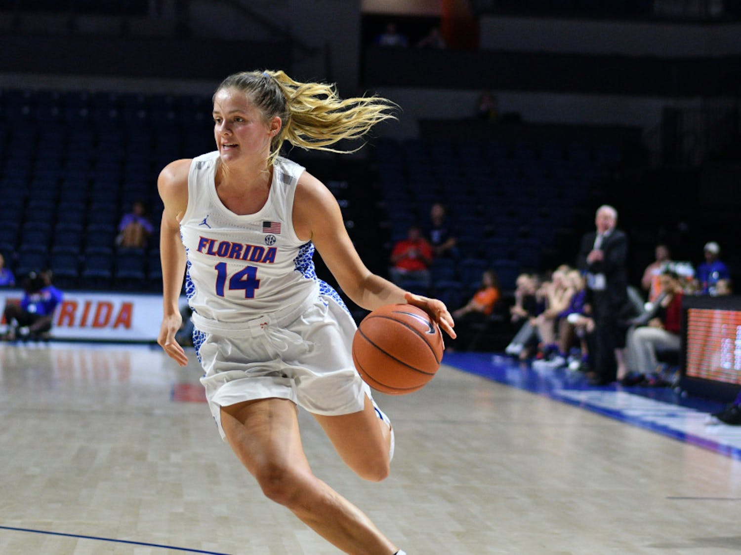 UF guard Kristina Moore suffered a broken arm on Jan. 27 in the Gators' women's basketball game against Arkansas.