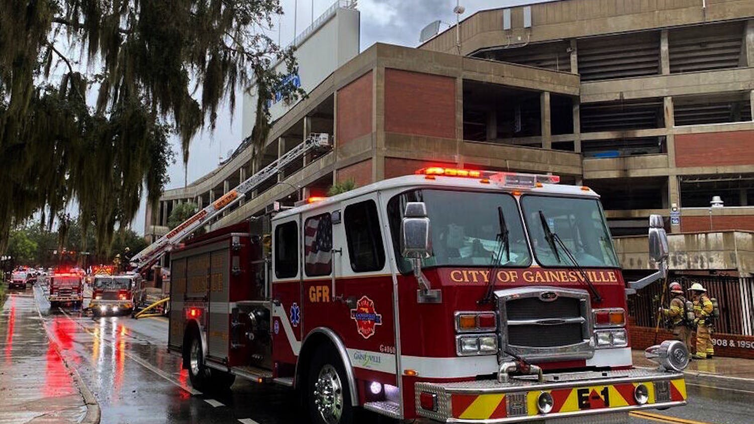 The Gainesville Fire and Rescue rushed to put out a fire at the Ben Hill Griffin Stadium on September 12, 2020. Fire Marshals will investigate the exact cause, per Gainesville Fire Rescue on the scene.