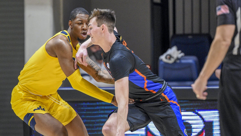 Gators center Colin Castleton scored 21 points Sunday. Photo courtesy of the SEC Media Portal.
