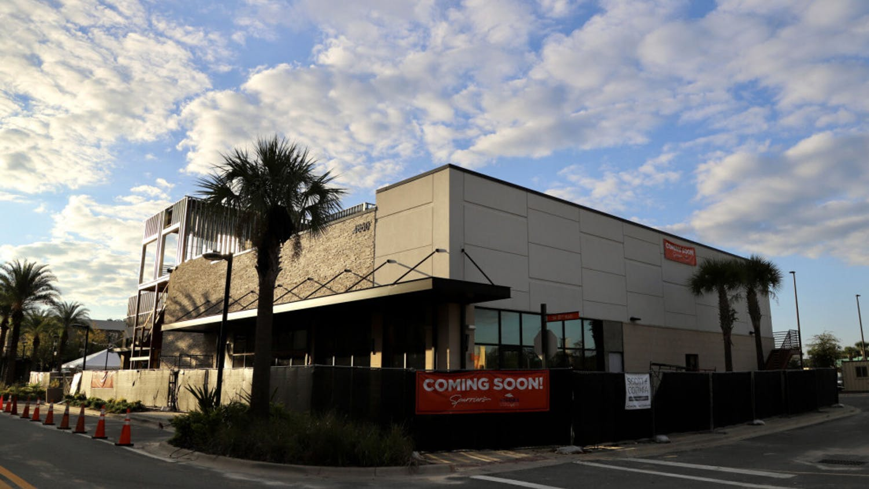 Spurrier's Gridiron Grille in Celebration Pointe Gainesville, Fla., is seen on Oct. 12, 2020.