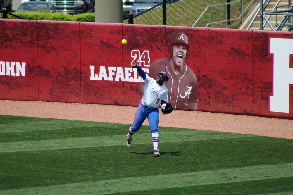 <p>Outfield Jamie Hoover provided a clutch homer in Florida&#x27;s 5-2 victory over Missouri Friday.</p>