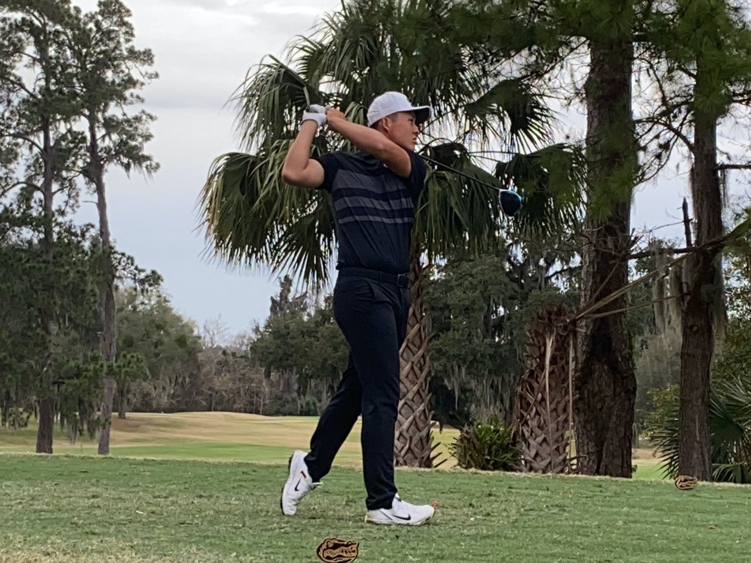 Florida's Yuxin Lin competes at the Gators Invitational in February 2021.