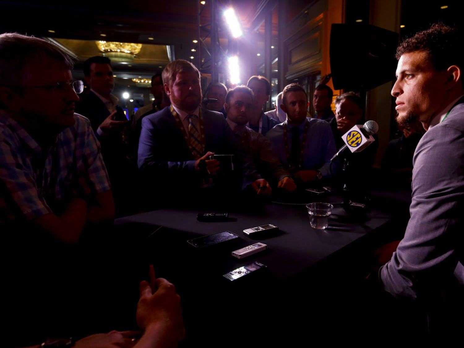 Quarterback Feleipe Franks (pictured), running back Lamical Perine and defensive end Jabari Zuniga were the three UF athletes to appear at the SEC Media Days on Monday alongside coach Dan Mullen.