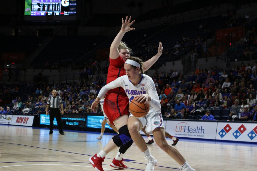 <p>Forward Haley Lorenzen played her final game as a Gator Wednesday with 14 points against Ole Miss.</p>