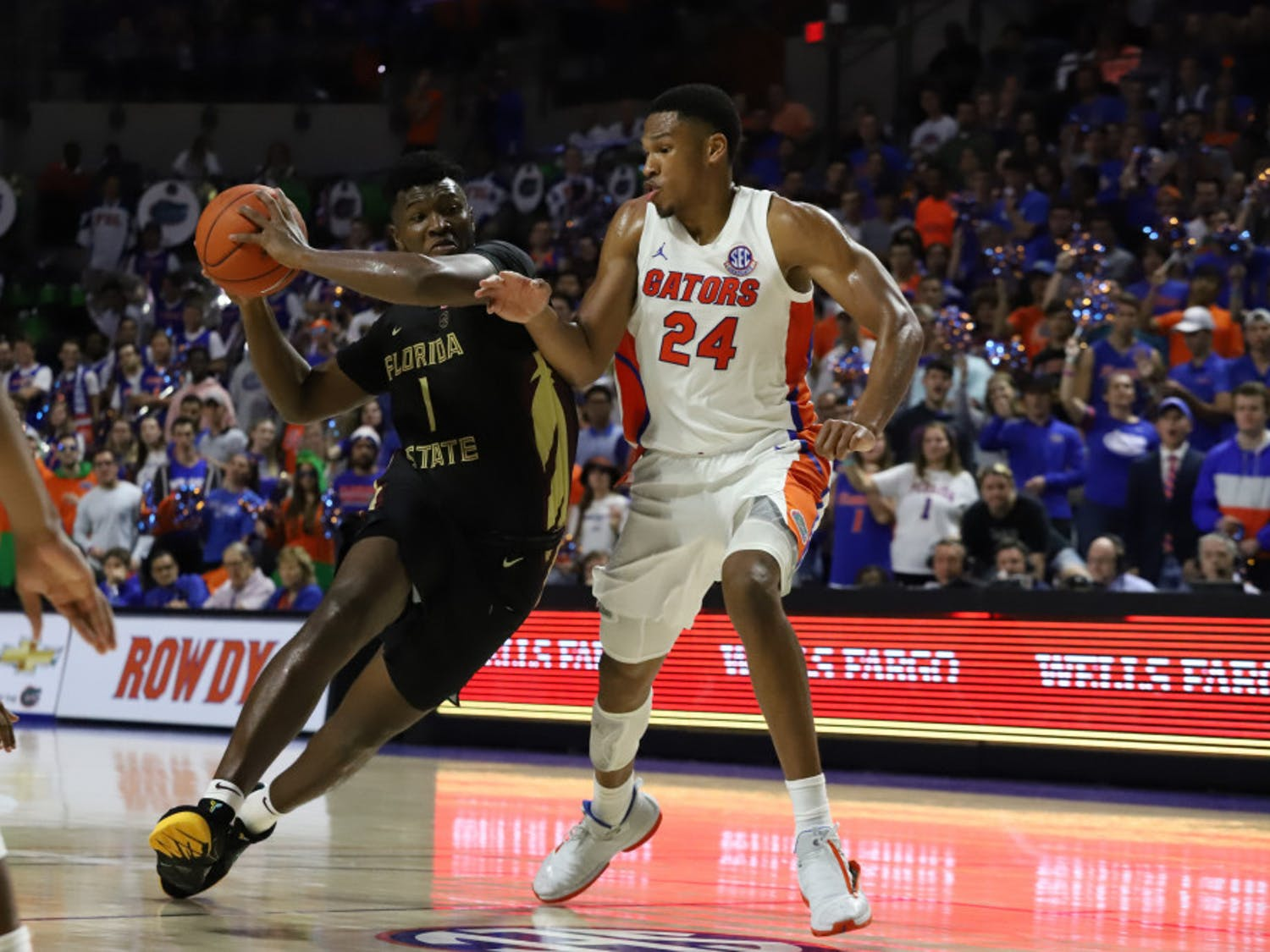 Center Kerry Blackshear Jr. was ejected 30 seconds into the second half of Thursday's game against St. Joseph's.