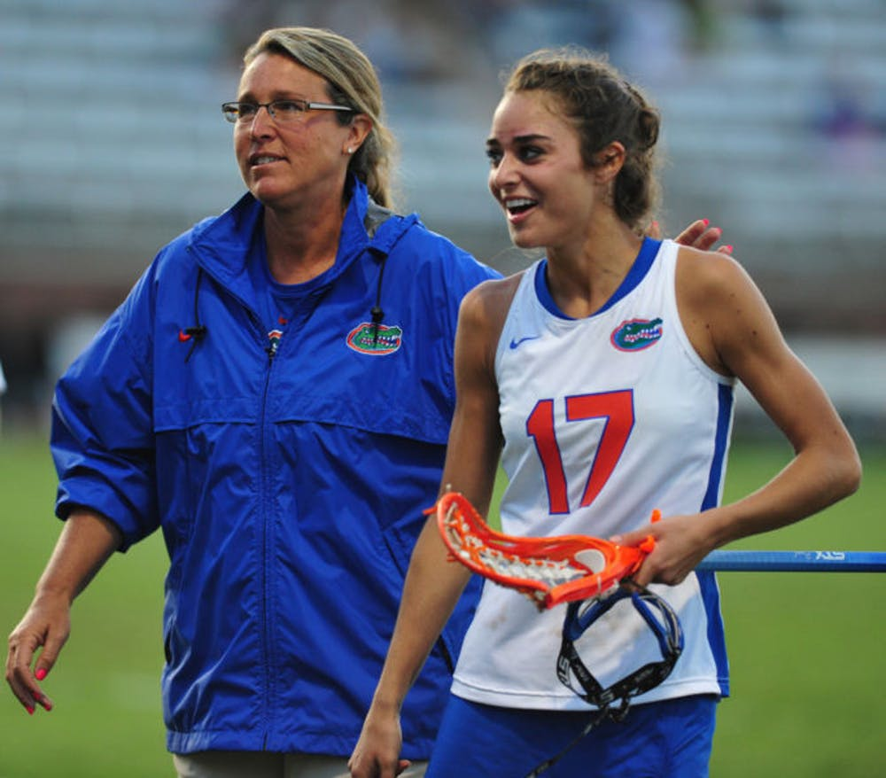 """<p>Florida lacrosse coach Amanda O'Leary (left) was pleased with the way her bench performed in its 18-6 victory over Marquette on Saturday. """"It is...&nbsp;<span id=""""docs-internal-guid-17d07a95-cc60-4cd7-b93b-70ae36e82d40""""><span>good to see some players who typically don't get in and see what they can do,"""" O'Leary said.</span></span></p>"""