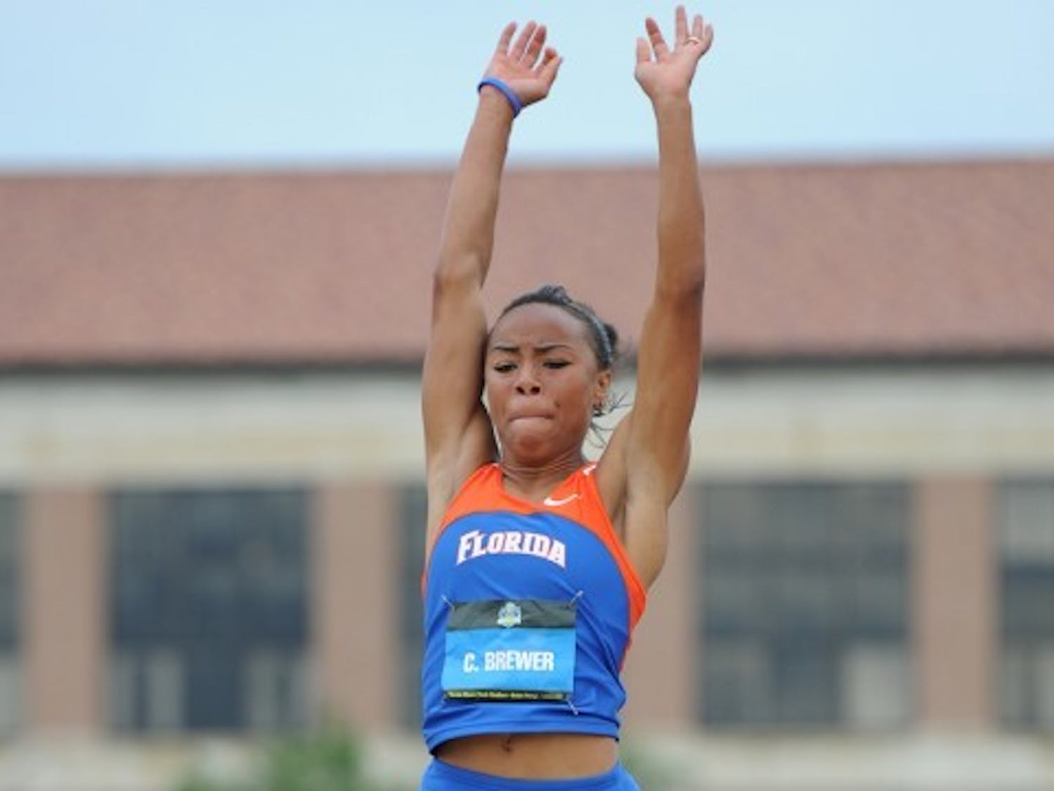 Ciarra Brewer competes in the triple jump at the Southeastern Conference Outdoor Championships on May 13, 2012.