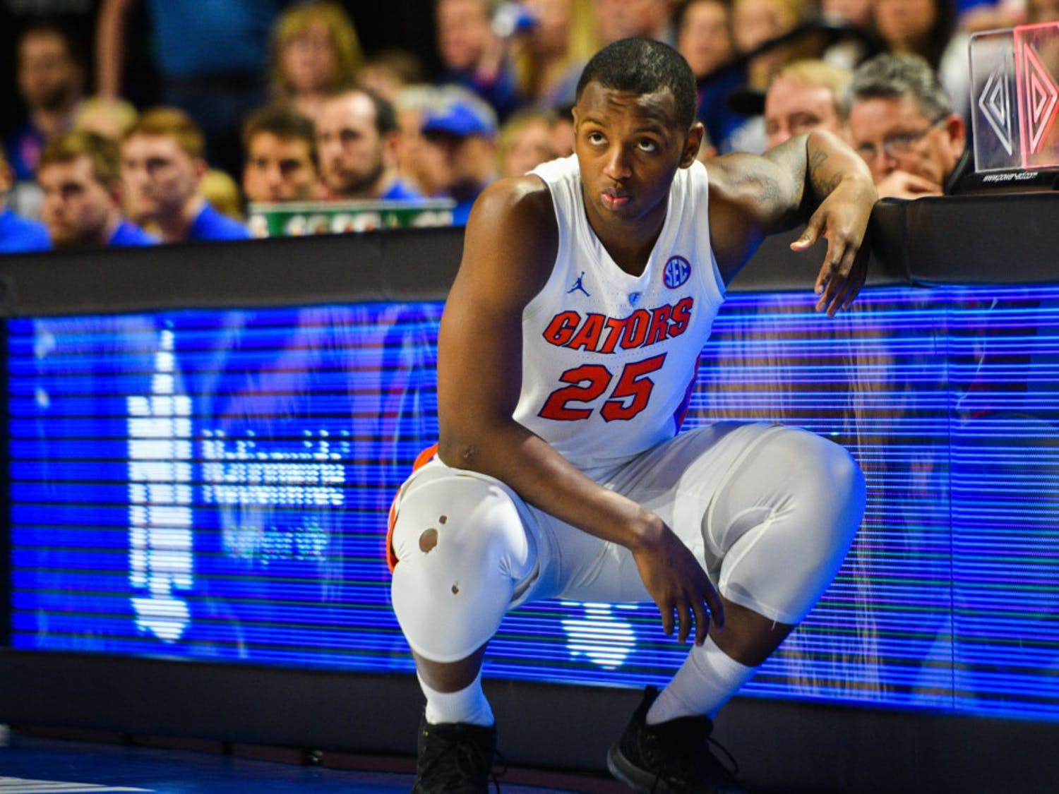 UF forward Keith Stone tore the ACL in his left knee against Georgia on Jan. 19.