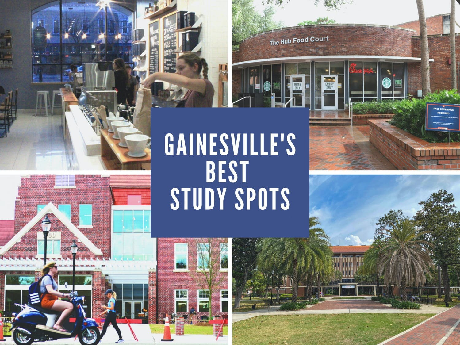The Avenue staff's favorite locations to get to work, including Newell Hall, Wyatt's Coffee, Library West and The Hub.