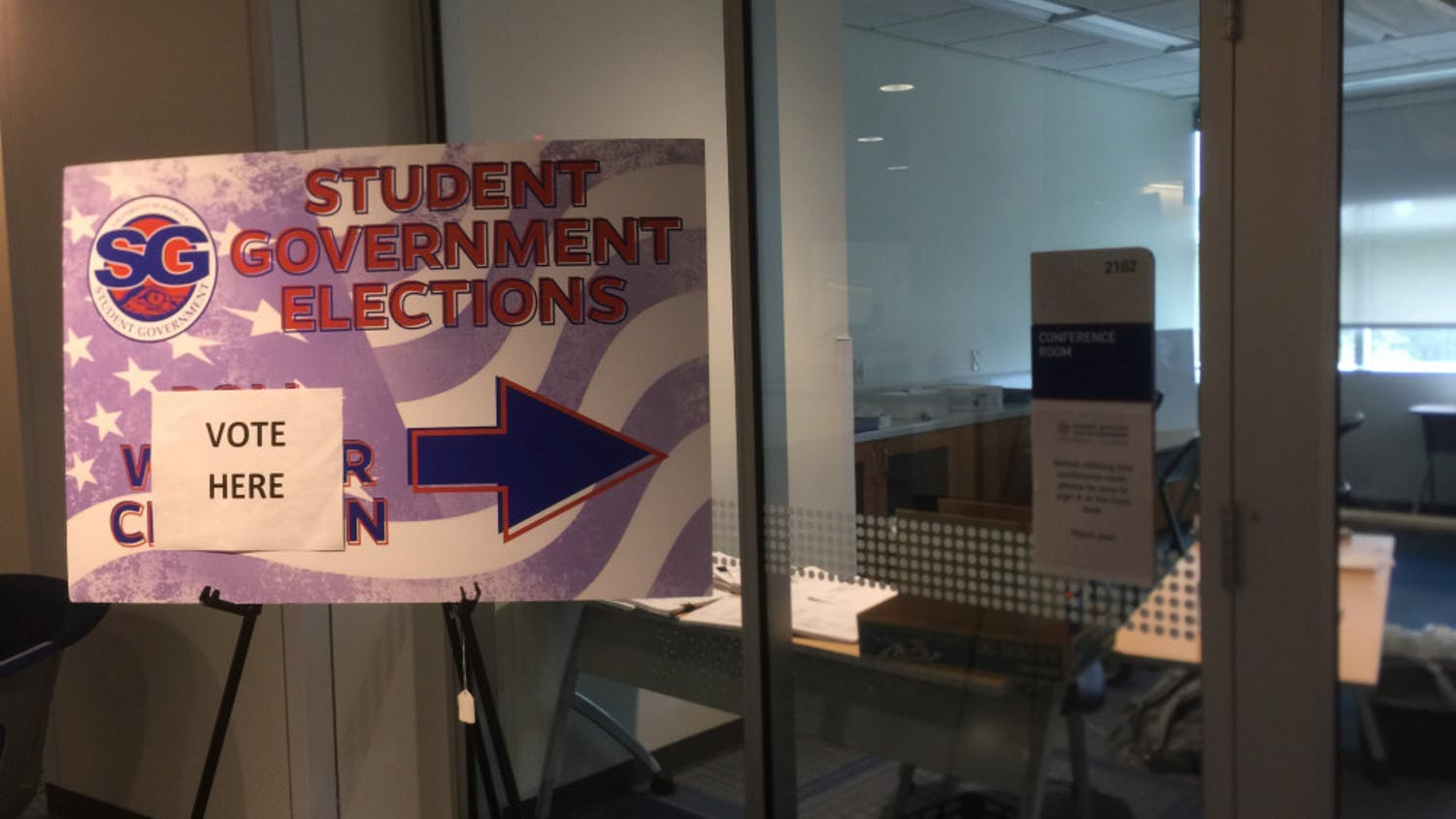 Early voting for Student Government elections began Monday, Sept. 28 in the Reitz Union.