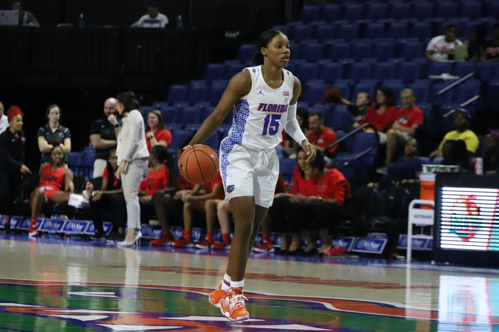 Sophomore Nina Rickards and the Gators take on Charleston Southern Wednesday at 5 p.m. for their second game of the season.