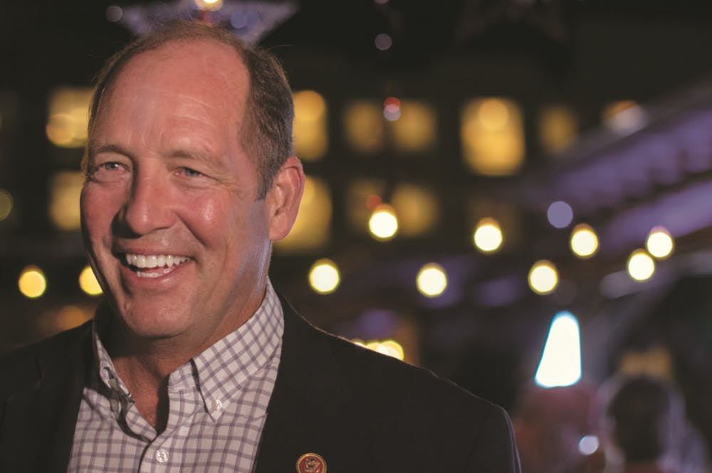 """<div>U.S. Rep. Ted Yoho smiles while he waits for the final results of Florida's 3rd Congressional District election. """"I want to see the final results, but I feel good,"""" Yoho said.</div><div class=""""yj6qo ajU""""></div>"""