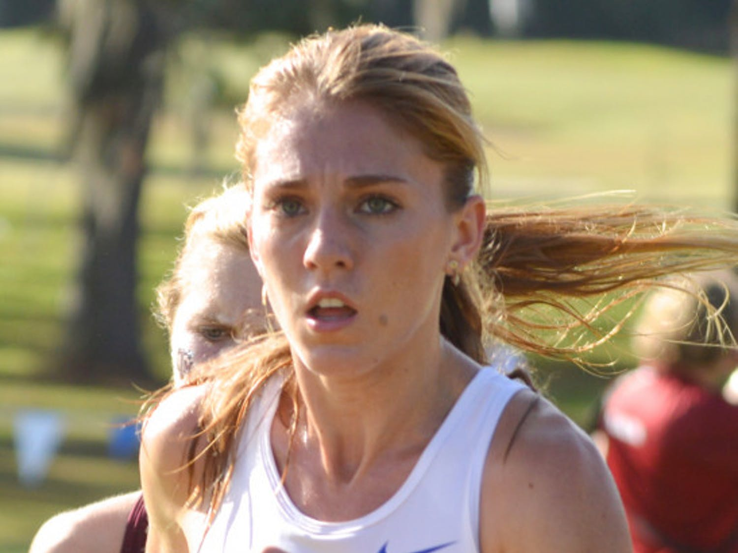 Cory McGee runs in the SEC Cross Country Championships on Nov. 1, 2013, at the Mark Bostick Golf Course.