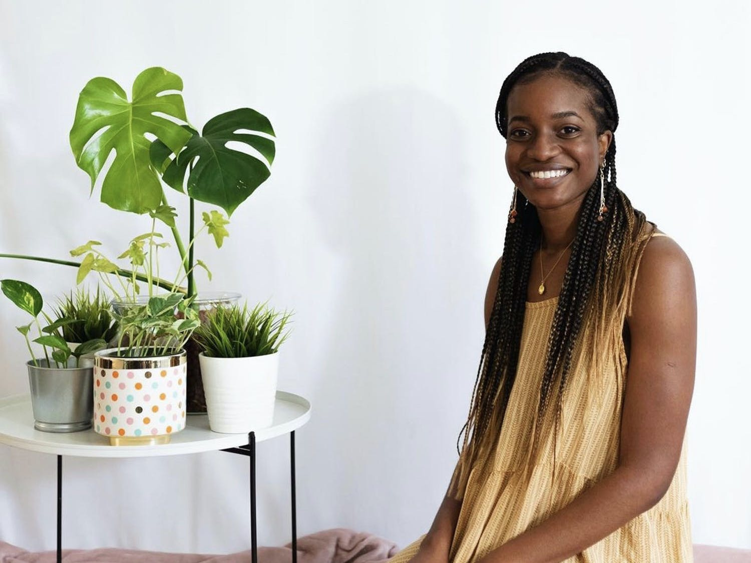 Tomi Adesogan created the Instagram-based shop EarringsByTomi, a passion project she started just two months into the COVID-19 pandemic. Within days, she took on another mission to support racial justice causes.  (Courtesy to The Alligator)