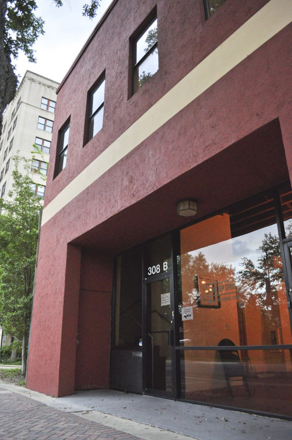 <p>Pictured is the exterior of Starter Space, a startup incubator located on 308 W. University Ave.</p>