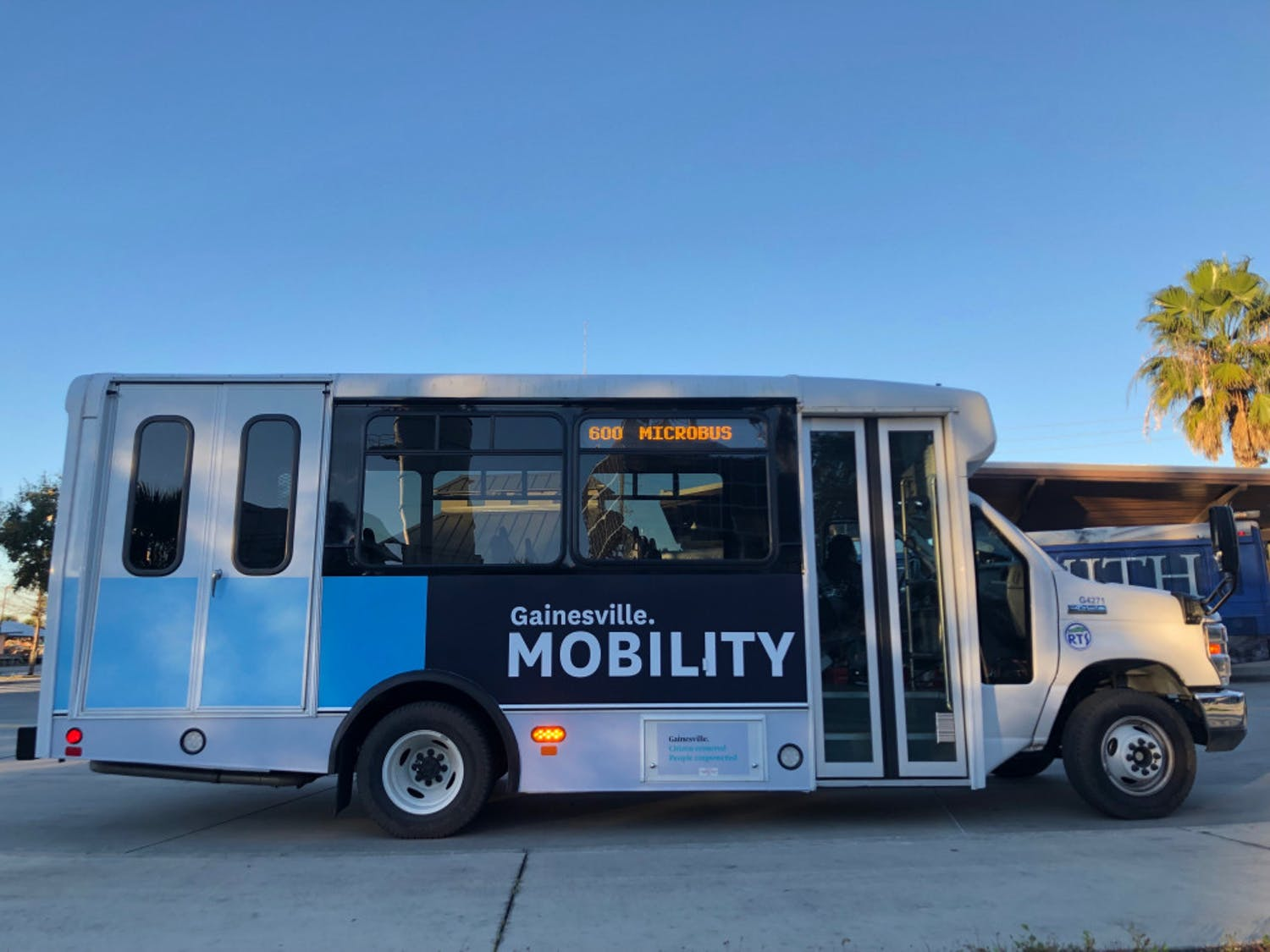 The RTS microbus is a new service for all residents of east Gainesville. The bus is free of charge and ADA equipped. Two microbuses began running Monday morning. Danielle Ivanov / Contributing Writer
