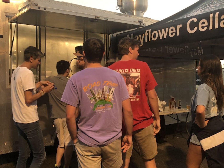 Mayflower Cellars restaurant frequently posts food trucks throughout Gainesville.