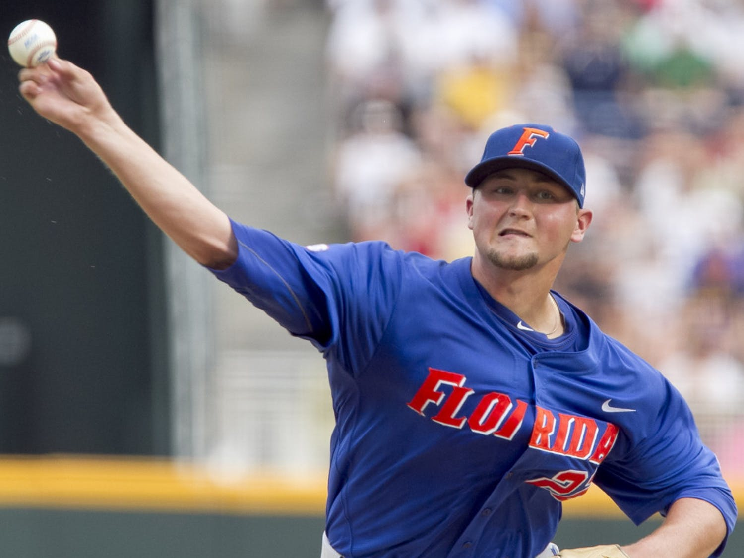Despite his youth, Florida freshman Karsten Whitson (8-0, 2.43 ERA) has flummoxed hitters all season. The powerful right-hander was a key caveat in Florida 3-1 win over Vanderbilt Tuesday in the weather-suspended contest at the College World Series.