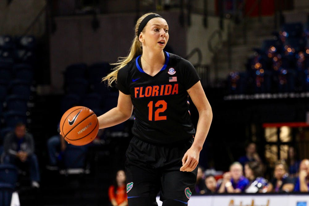 <p>Forward Paulina Hersler put up 12 points and was the only Gator to score in double figures Thursday night against Tennessee.</p>