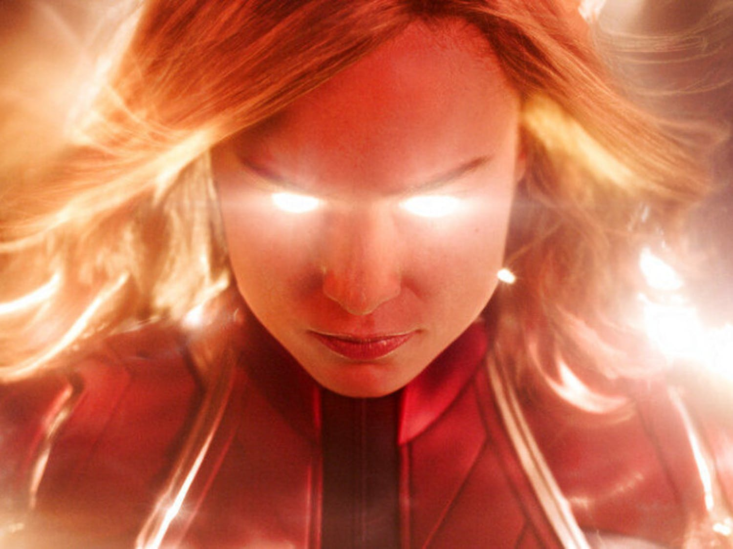 """This image released by Disney-Marvel Studios shows Brie Larson in a scene from """"Captain Marvel."""" (Disney-Marvel Studios via AP)"""