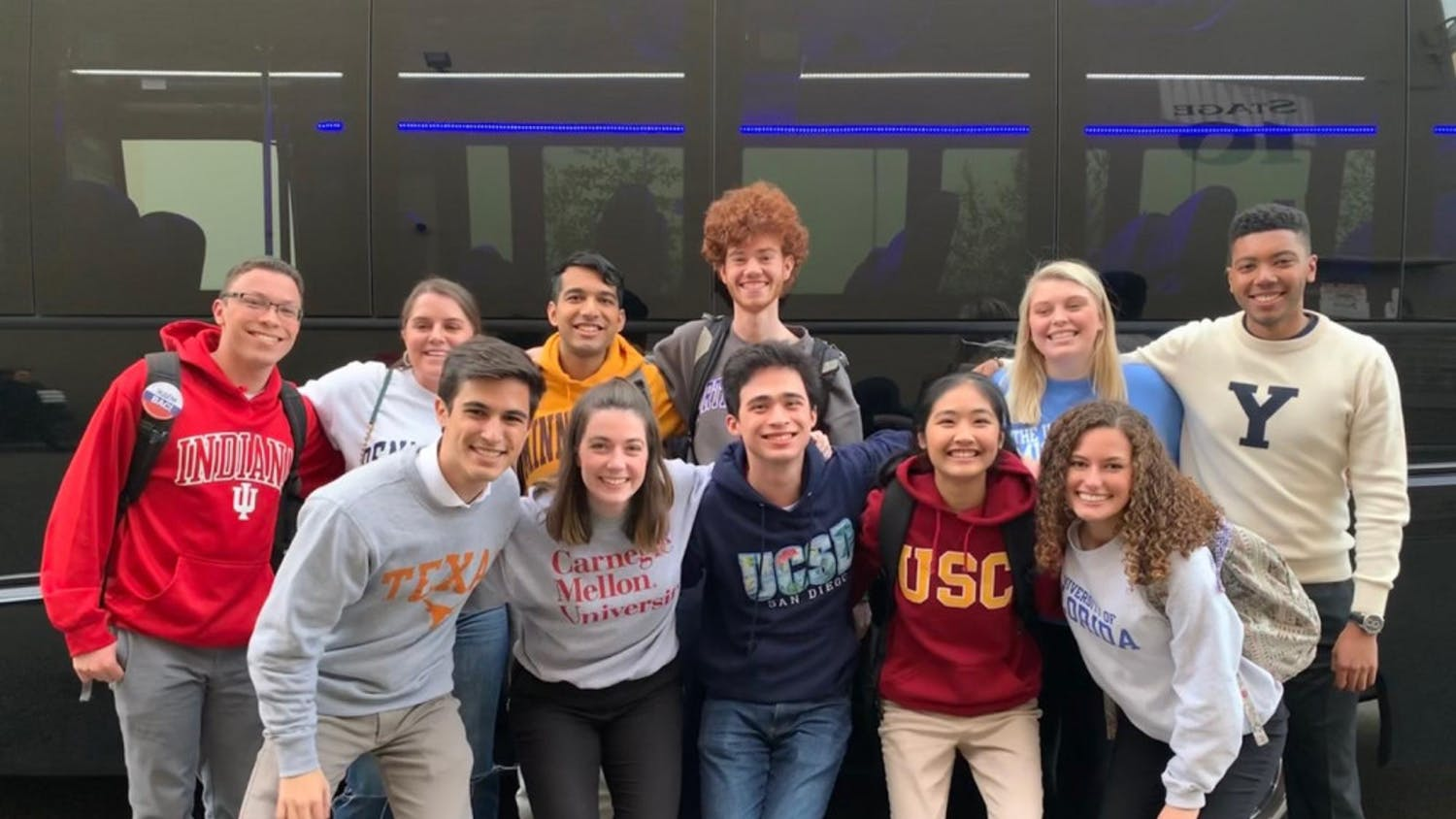 Kayla Kalhor is on the bottom right with the rest of the contestants for Jeopardy! College Championship.