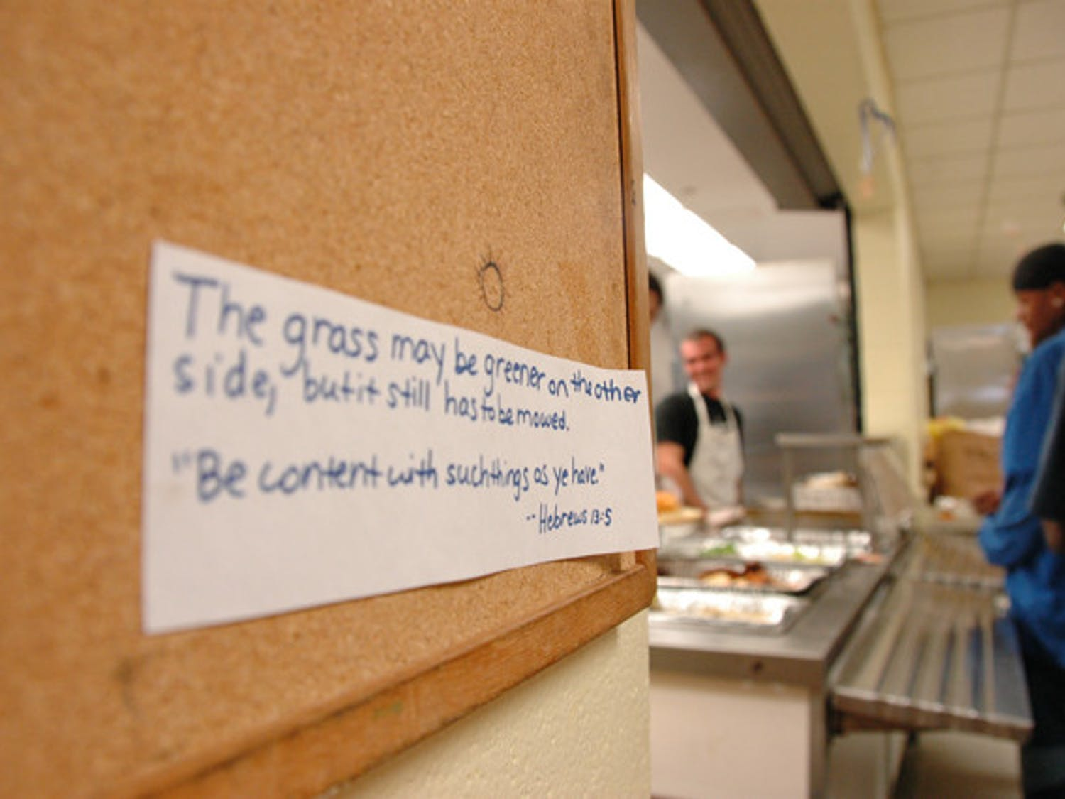 The St. Francis House soup kitchen was able to serve meals during a three-hour time frame as of Wednesday, rather than the previous limit of 130 meals a day.