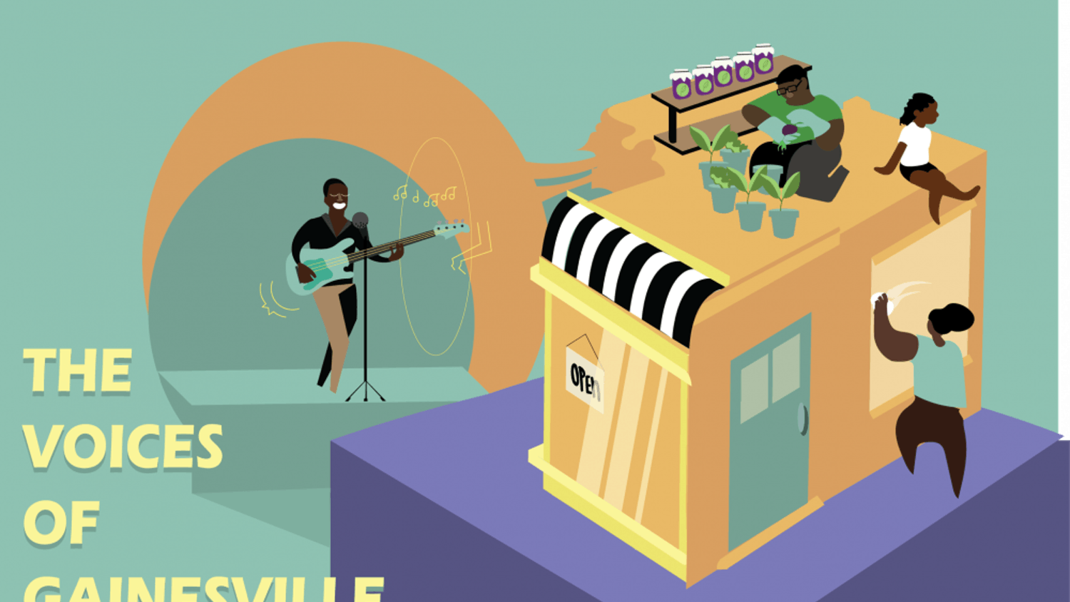 """This story is a part of an Avenue series called """"The Voices of Gainesville"""" meant to spotlight black-owned businesses, black artists and black musicians in Gainesville."""
