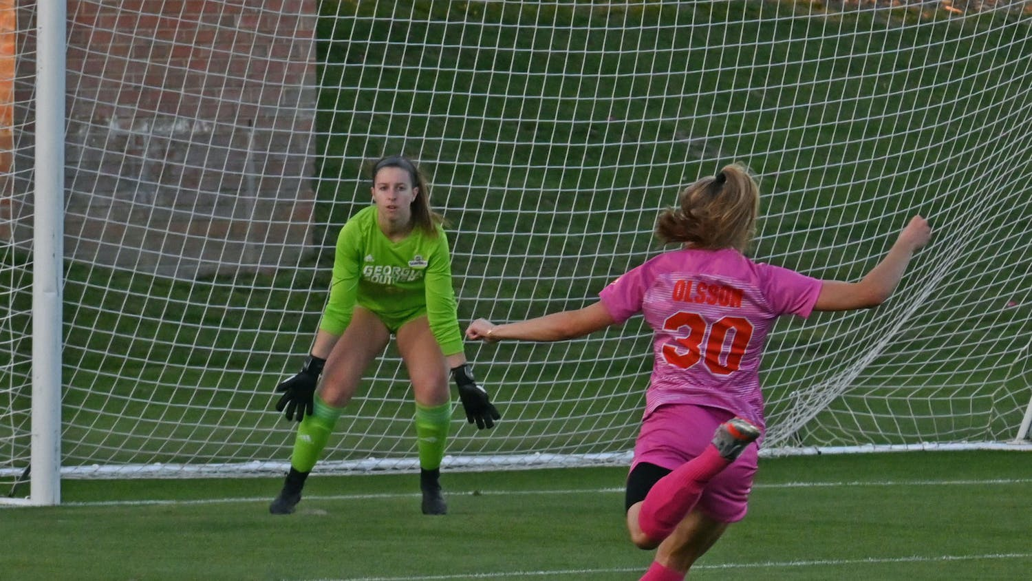 Beata Olsson took Florida over the finish line with a late two-goal burst over UNF Wednesday. Photo from UF-Georgia Southern game March 11.