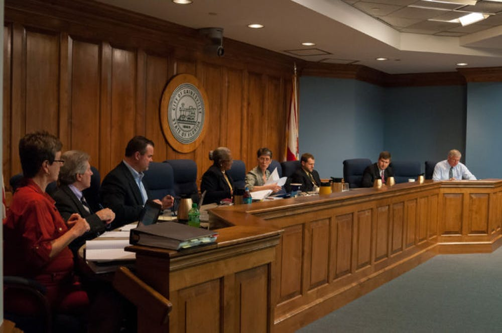 <p>The City Commission held a meeting at City Hall on Monday afternoon to discuss issues like developing a plan for University Corners.</p>
