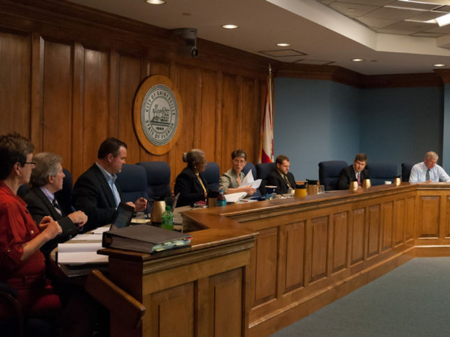 The City Commission held a meeting at City Hall on Monday afternoon to discuss issues like developing a plan for University Corners.
