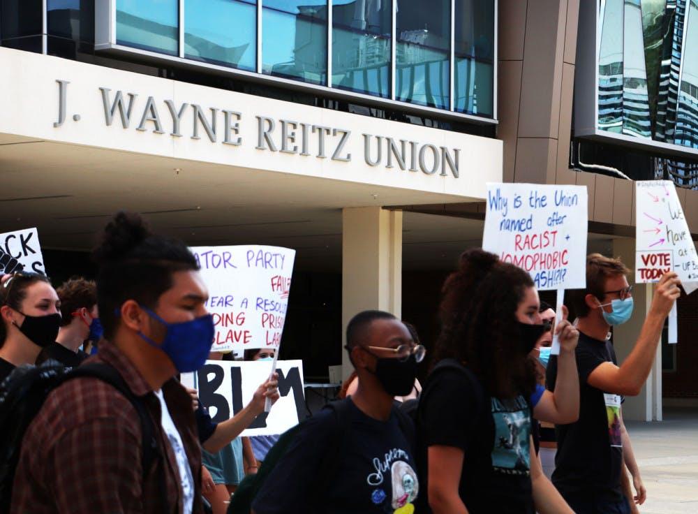 Photo of Reitz Union protest