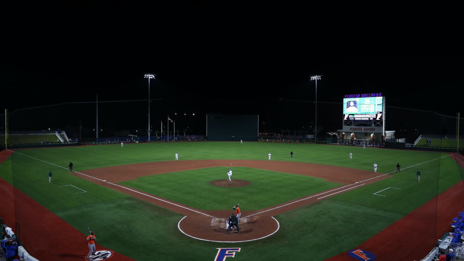 The Gators won Friday's opening game in the new Florida Ballpark. Photo courtesy of the UAA.