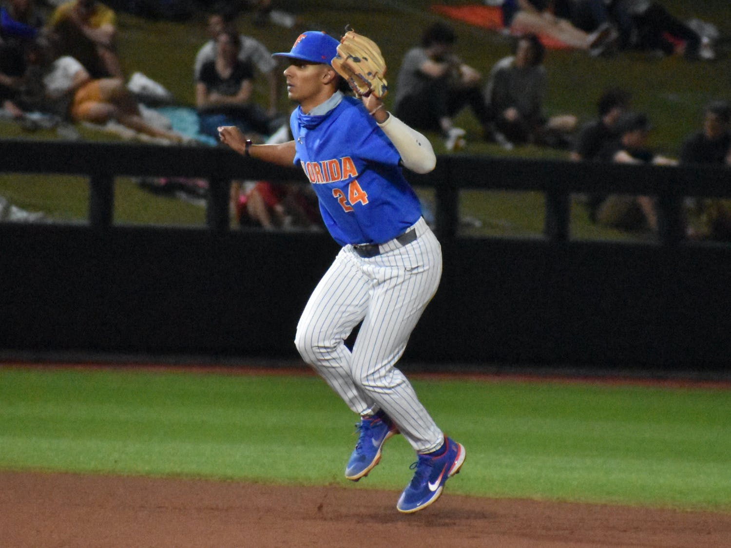 Rivera's three-RBI game marked a career-high for the second-year freshman. Photo from UF-Jacksonville game March 13.
