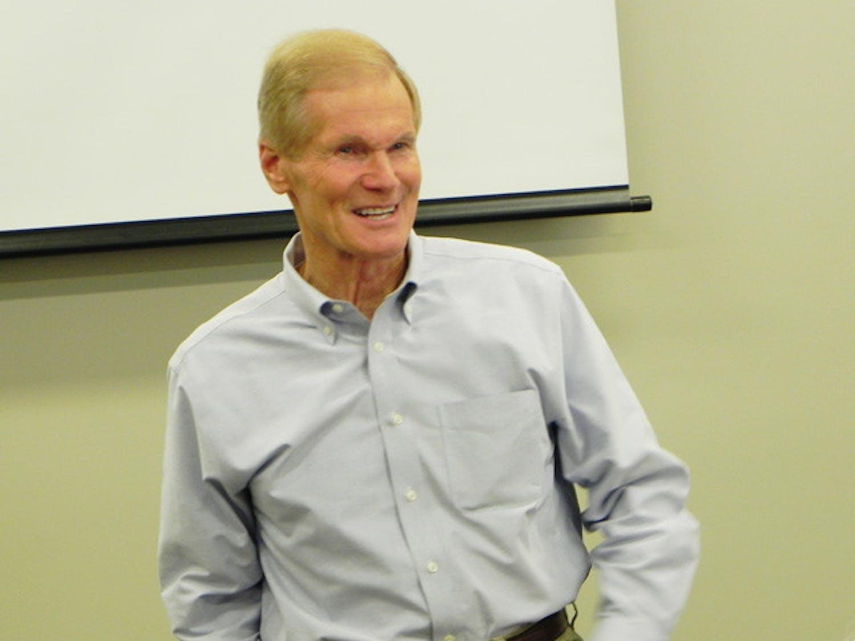 Florida Sen. Bill Nelson speaks at the Florida Innovation Hub on Wednesday afternoon.